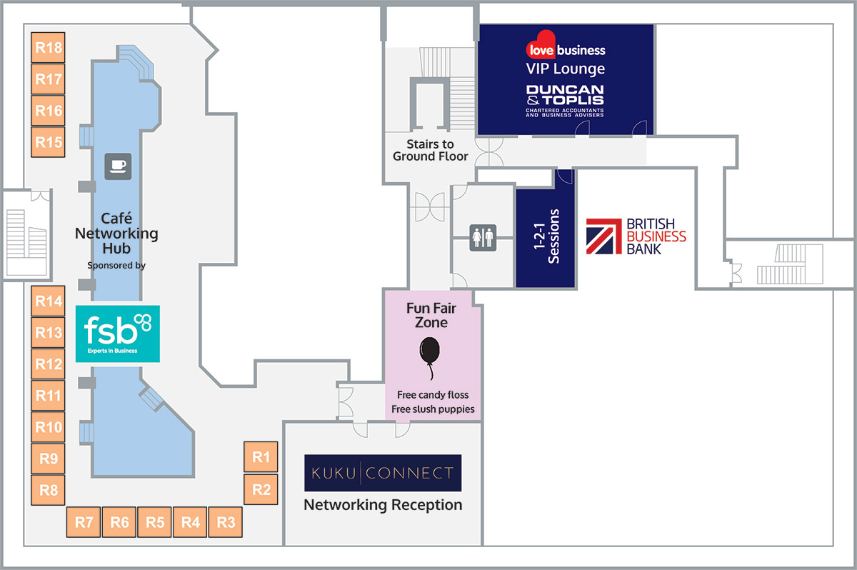 First Floor - Café Networking Hub floor plan image